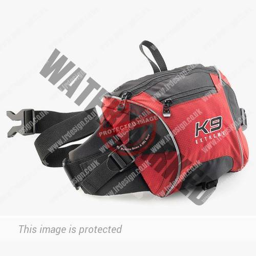 K9 Extreme red and black bag.