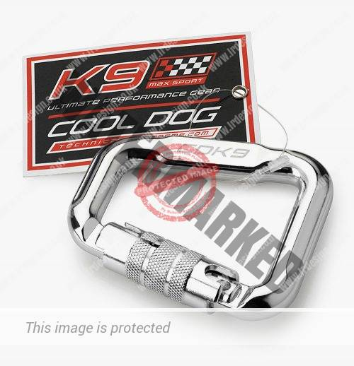 K9 Max-Sport carabiner with swing ticket.