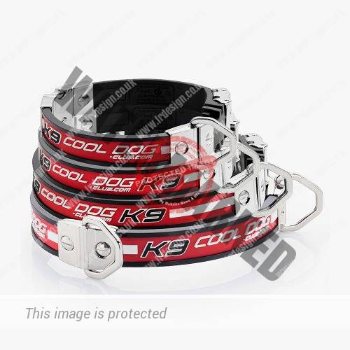 Pet brand cooldog-club.com stacked dog collars.