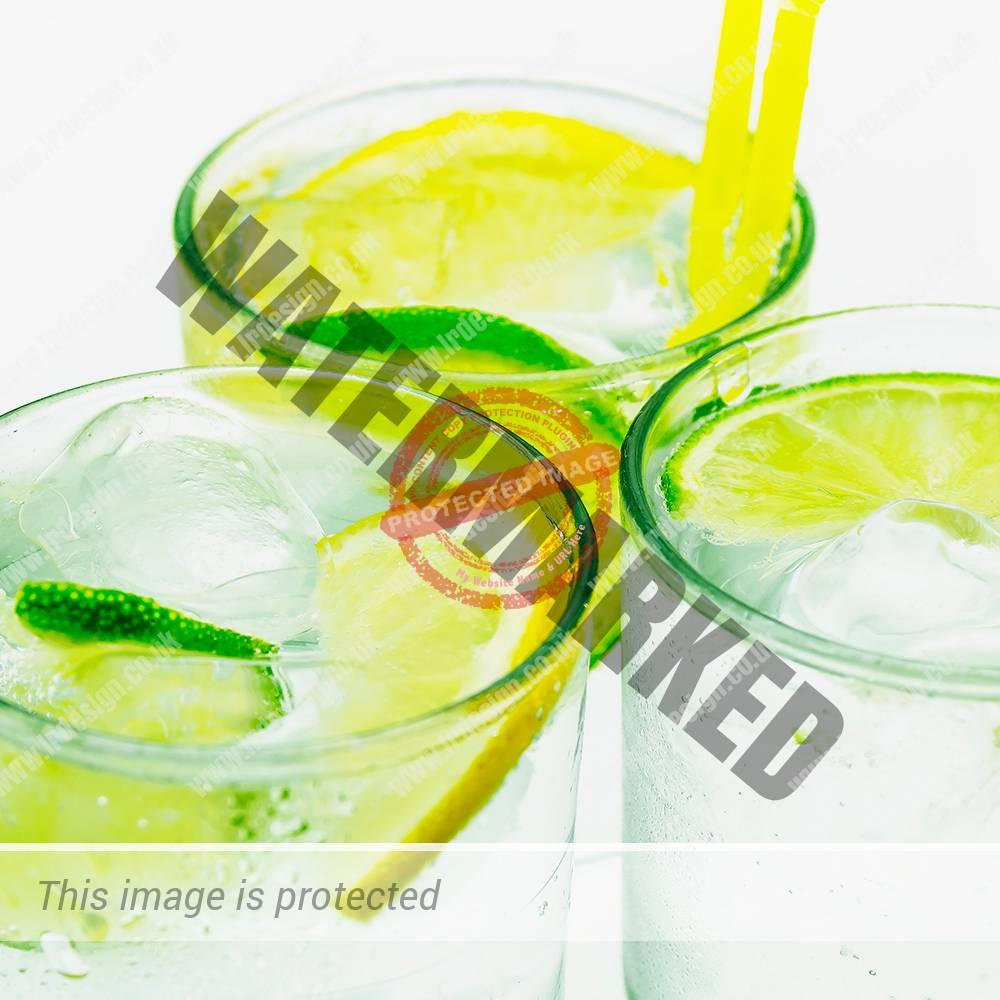Fresh lemon and lime drinks.