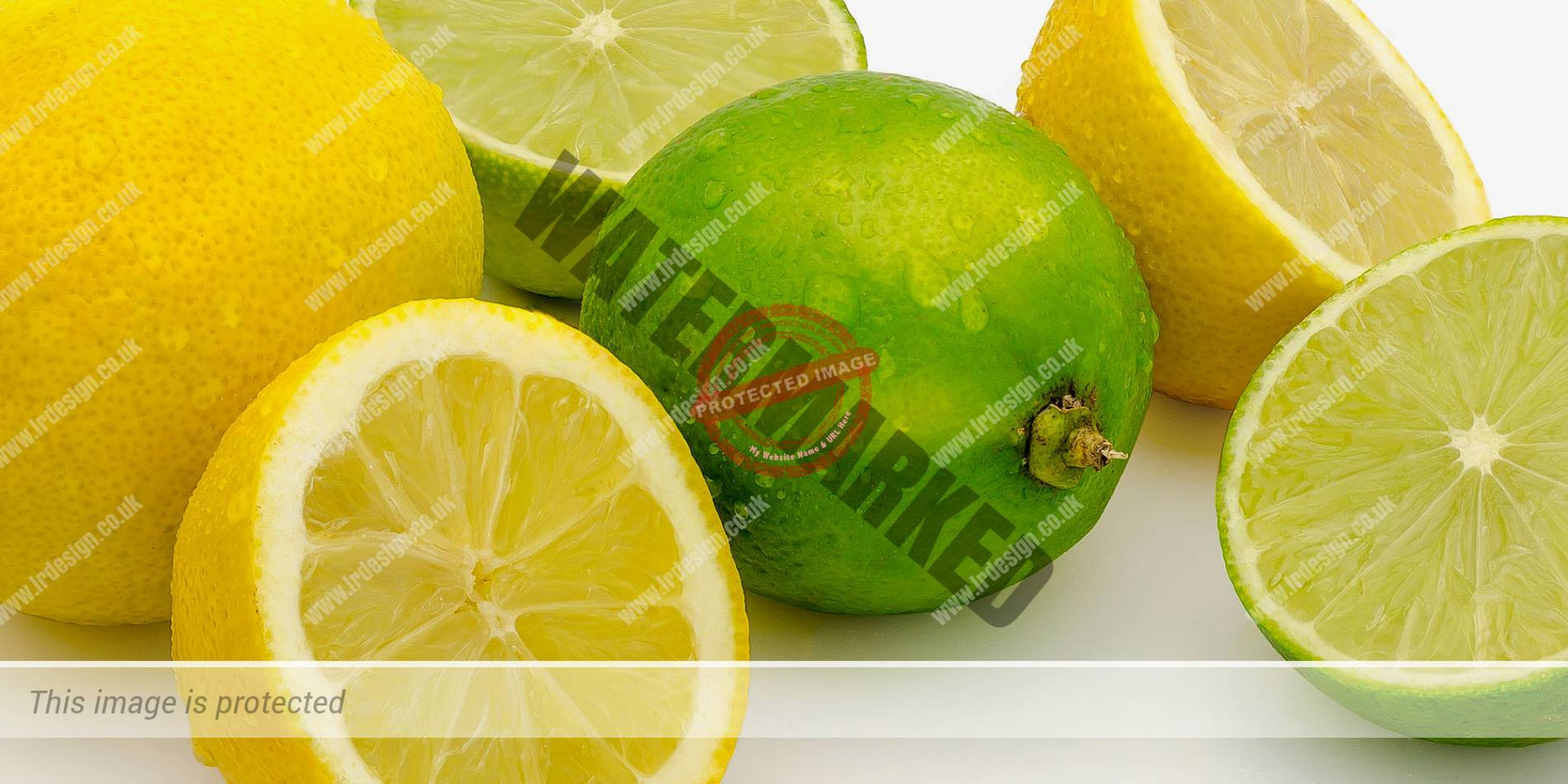 still life showing lemons and limes.