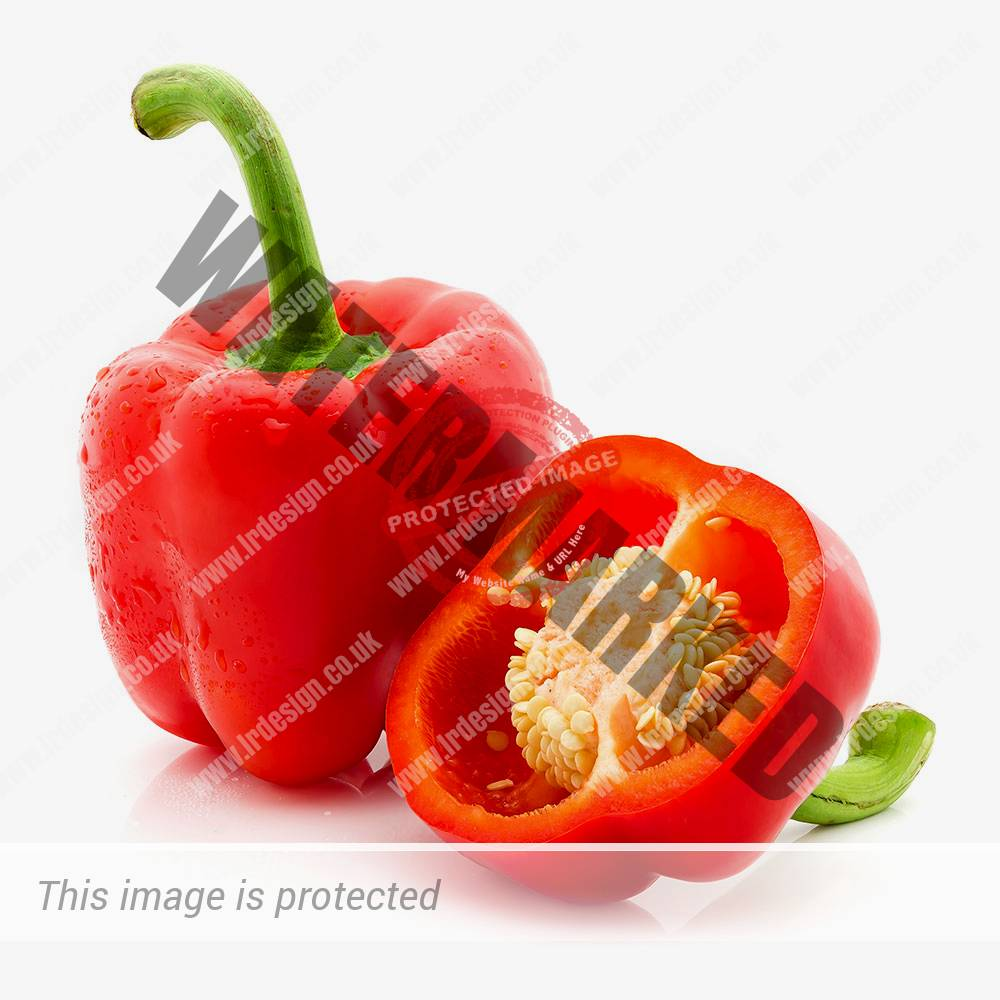 Bright Red Peppers.