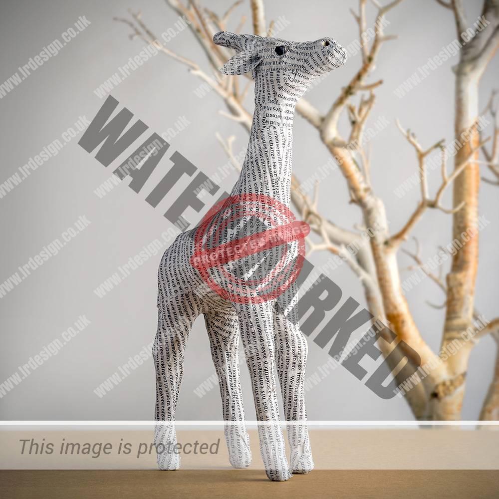 Paper Giraffe Sculpture.