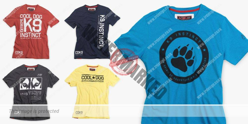 Selection of K9 Extreme t-shirts.