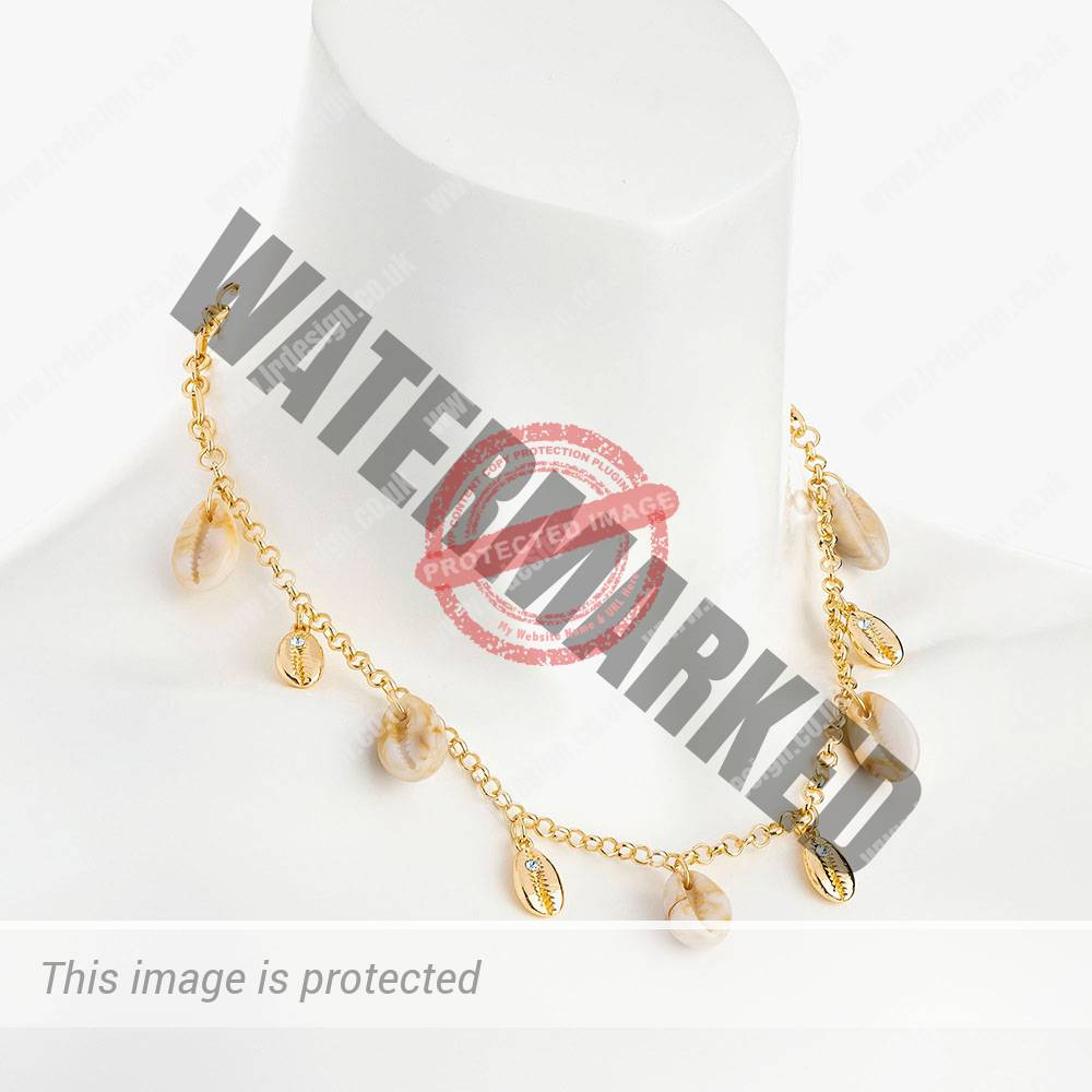 Gold and shell necklace.