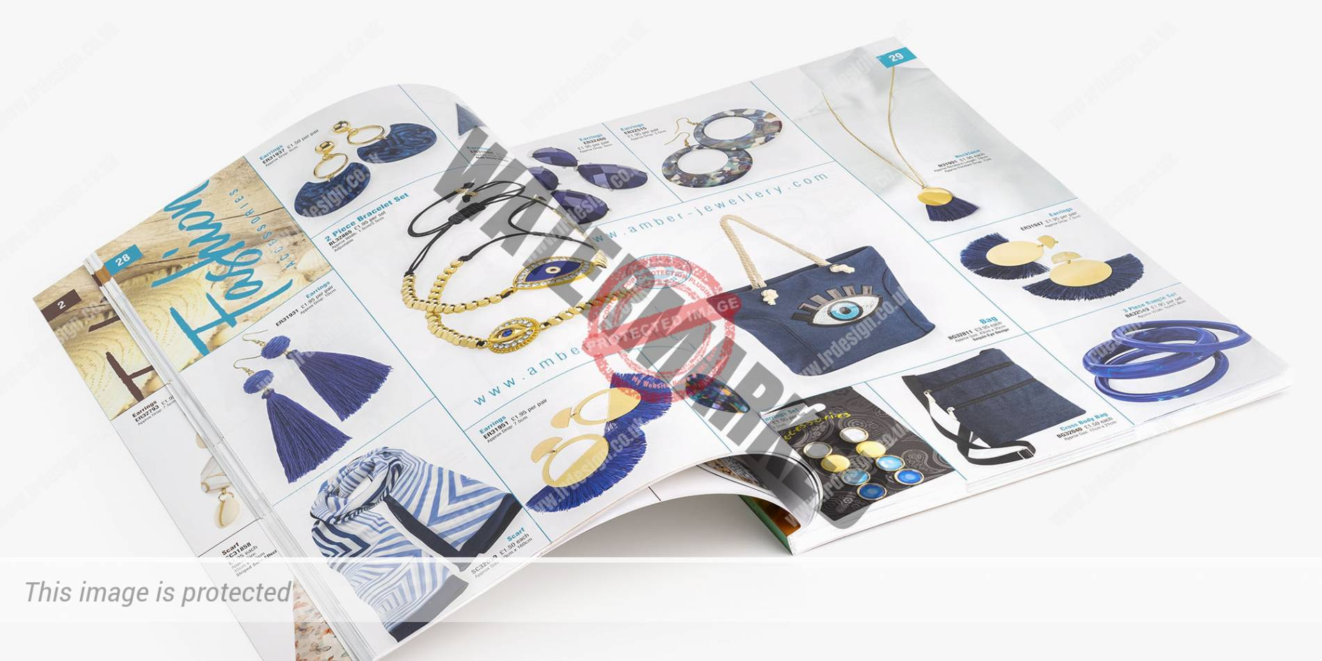Double page spread from Inside Amber Jewellery 2019 Brochure.