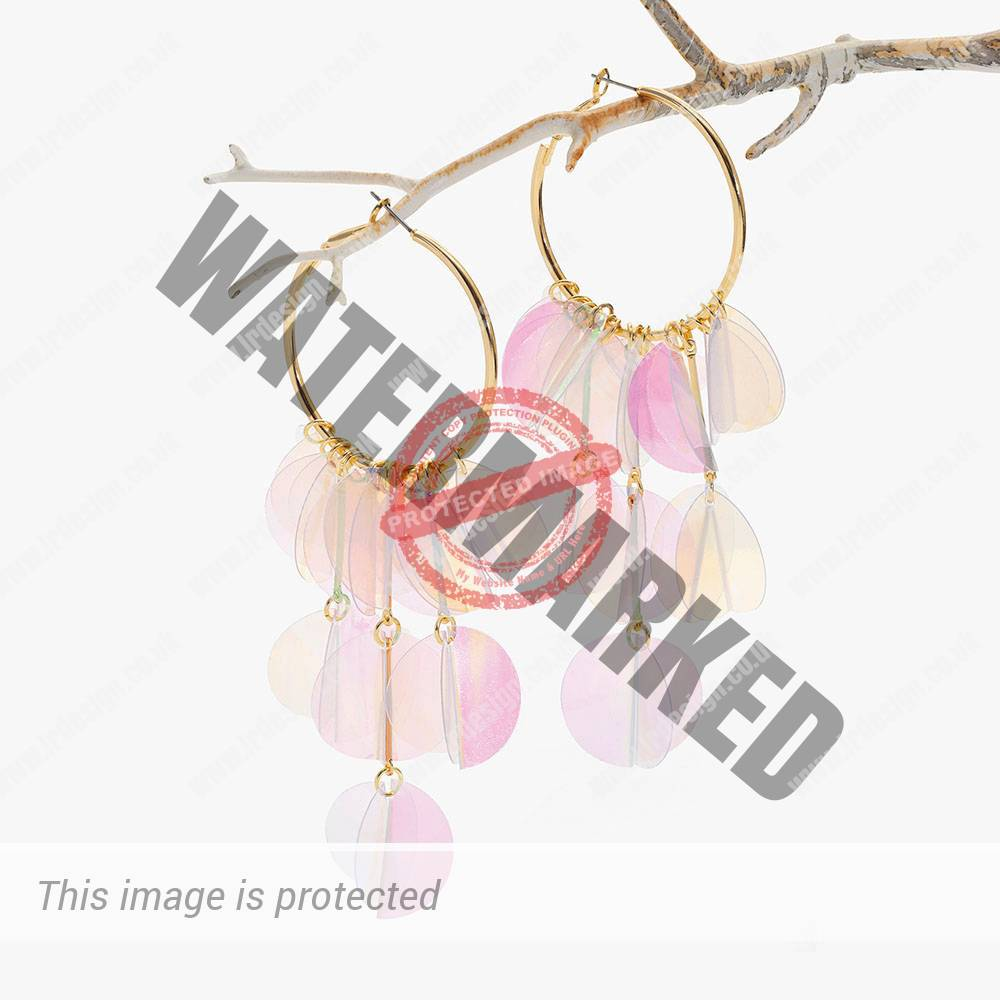 Translucent gold drop earrings.
