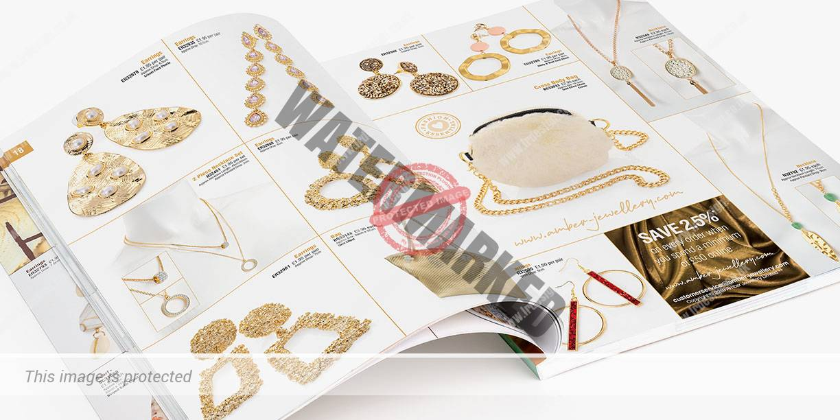Double page spread from Inside Amber Jewellery Brochure.