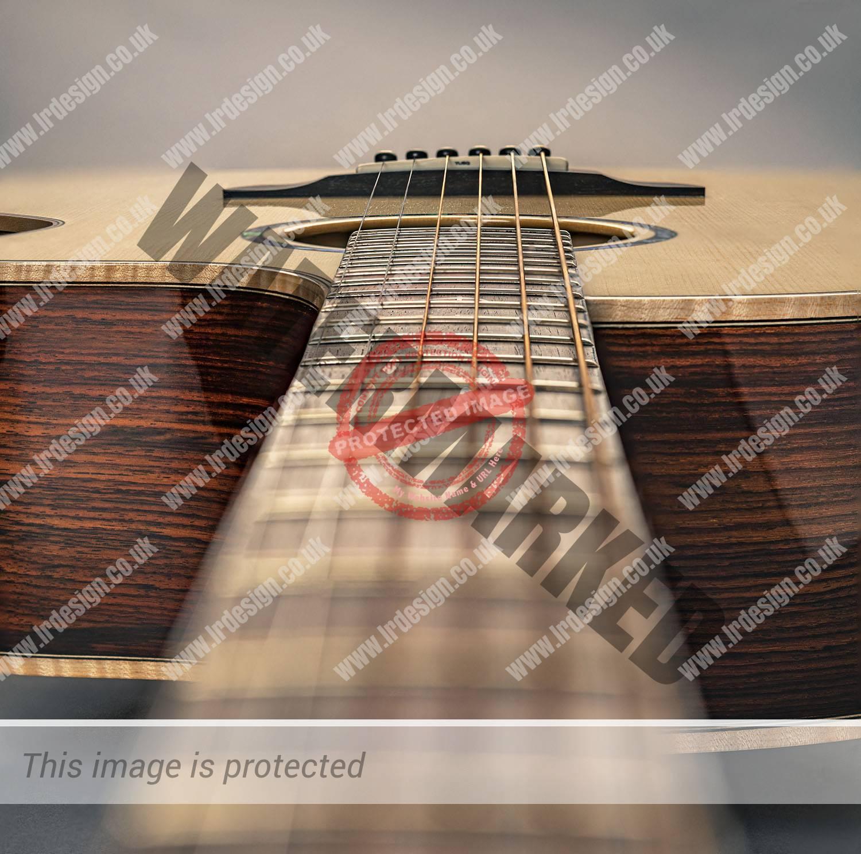 Faith acoustic guitar creative view.