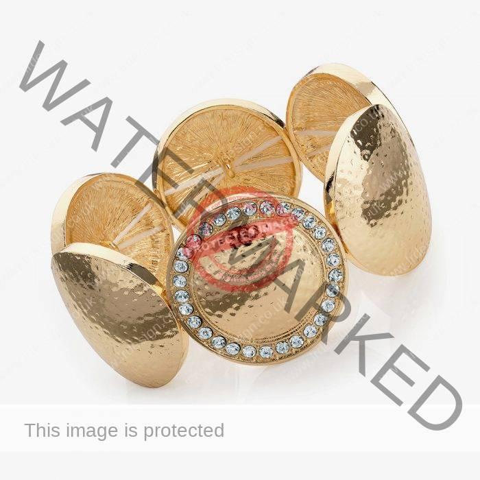 Gold Disc Bracelet.