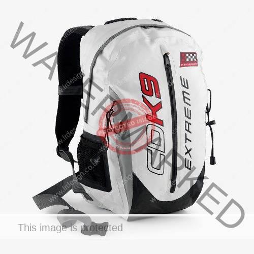 CDK9 Extreme White Back Pack.