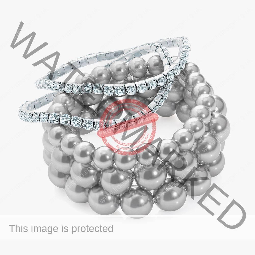 Five piece bracelet set.